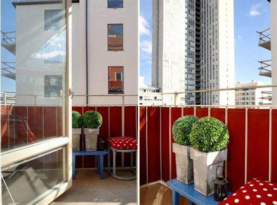 Small Balcony Idea:  Line It With Fabric