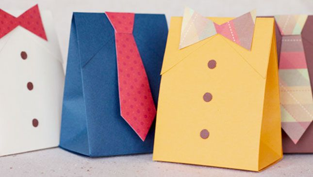 Tie Boxes | DIY Father's Day Party