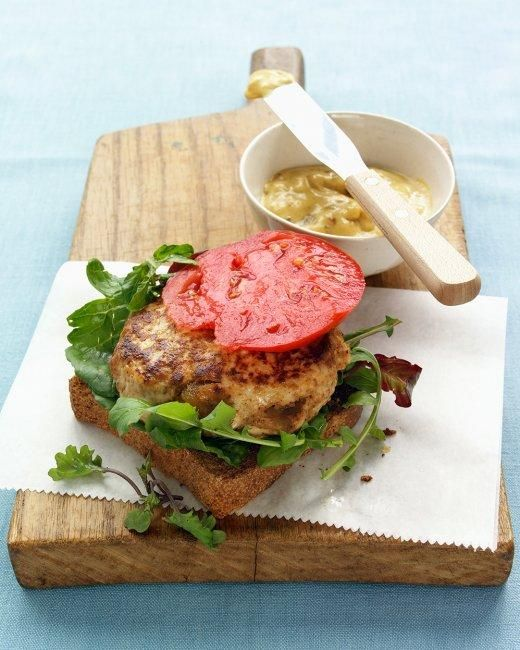 Classic Turkey Burgers-- For juicy burgers, use ground turkey that's at least 7 percent fat.