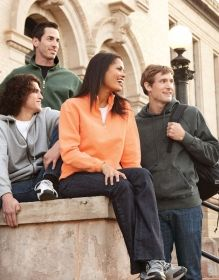Promotional Products Ideas That Work: MEN'S VINTAGE HALF-ZIP POLO. Made in North America. Get yours at www.luscangroup.com