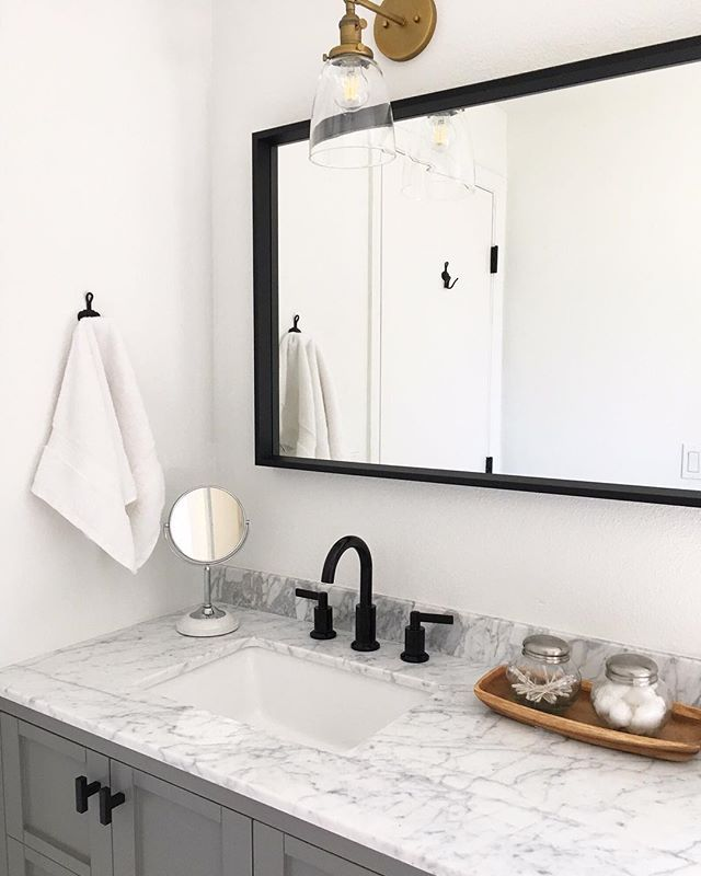 Images On How to make a dramatic modern bathroom vanity from a standard IKEA sink cabinet