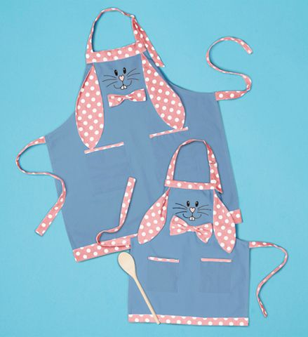 Bunny mother daughter Aprons