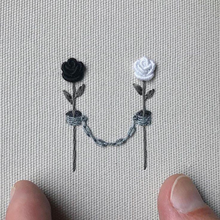 """825 curtidas, 4 comentários - Nakış Ve Elemeği Dünyası  (@efsunlu_parmaklar) no Instagram: """"Muazzam bir sadelik ♥️ Çalışmanın bulunduğu sayfa @beastorgod #embroidery #hoopart #brezilyanakışı…"""""""
