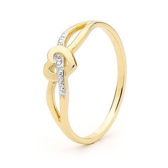 Buy our Australian made Diamond Ring - Ribbon through heart  - BEE-24063 online. Explore our range of custom made chain jewellery, rings, pendants, earrings and charms.
