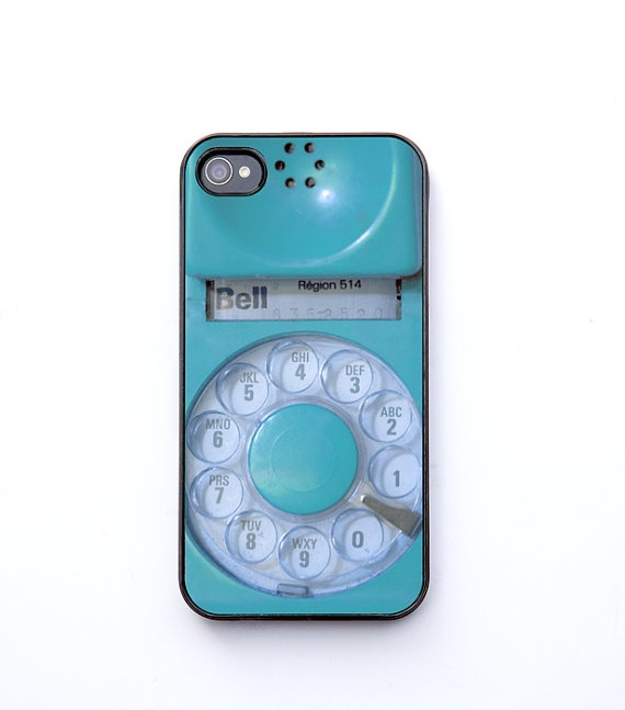 iPhone 4 Case case for iphone iphone cover aqua vintage by bomobob, $30.00