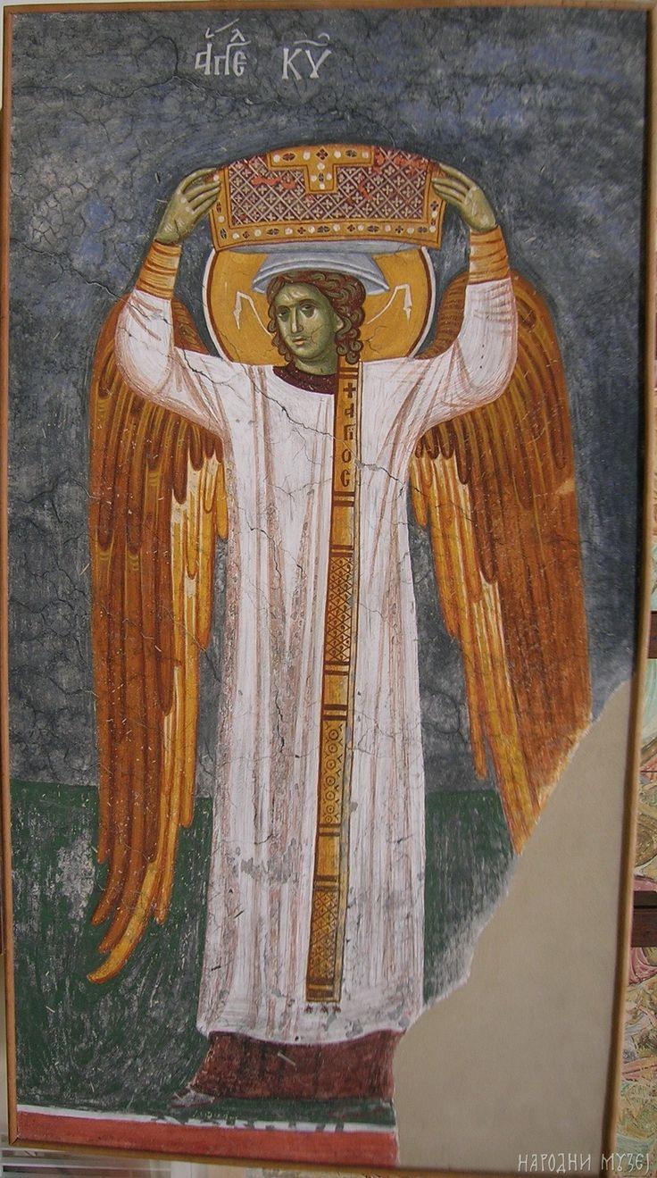 Anđeo đakon iz Nebeske liturgije, Gračanica