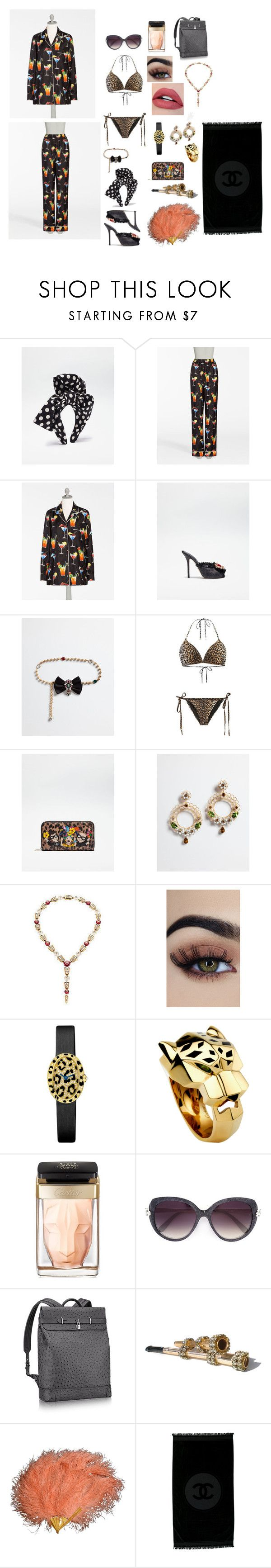 """Maldives"" by naomi-nannis on Polyvore featuring moda, Dolce&Gabbana, Bulgari, Cartier y Chanel"