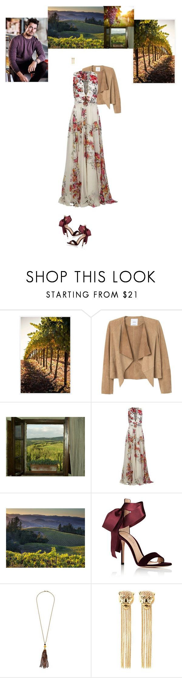"""Toscaanse Bruiloft"" by class-in-the-corner-office on Polyvore featuring Pottery Barn, MANGO, Zuhair Murad, Gianvito Rossi, Kenneth Jay Lane and Roberto Cavalli"