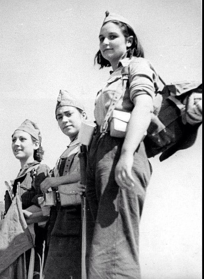 Spanish Civil War, 1936-1939. Milicianas (women of the Republican militias)