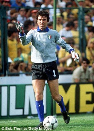 Between the sticks: Zoff captained Italy to victory at the age of 40...