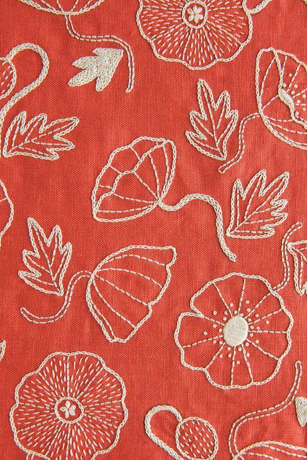 Poppy Garden Embroidery | Purl Soho