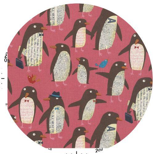 Nancy Wolff for Kokka Japan, Penguins Pink
