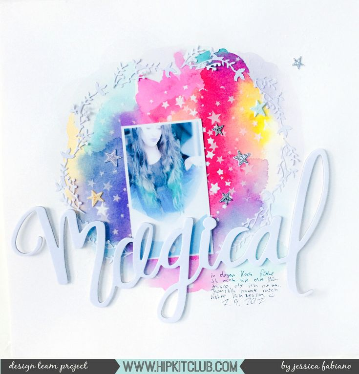 Magical #hipkitclub #october2017 #watercolor #scrapbook #shimmerz
