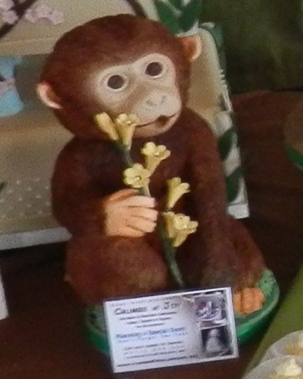 Novelty Monkey Cake, Great for grooms or bridal shower, Why not have something personal to you and your partner telling your story... Check out our Facebook page for more cake ideas. Or simple to book a consultation call us or send us a message...