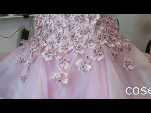8a674a762 XV CON CRIN Y ENCAJE 3D- parte 13 detallado del vestido | CONDISMOD ...