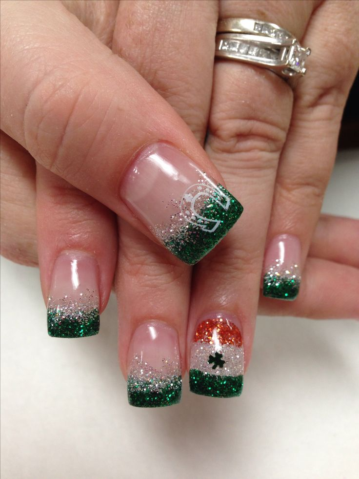 St.Patricks Day Nails. Gel Nails by Janee Tittensor @ www.awildhairsalonreno.com