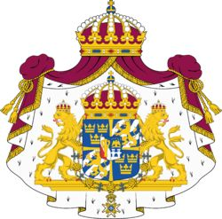 Sweden has two independent coat of arms. They both symbolize the Swedish state. It express the elements that represent our country so as three golden crowns on a blue backround.