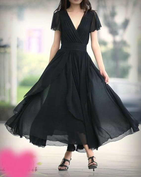 black tea length bridesmaid dresses | Tea Length Black Party Dress Prom Homecoming by Myweddinggarment,