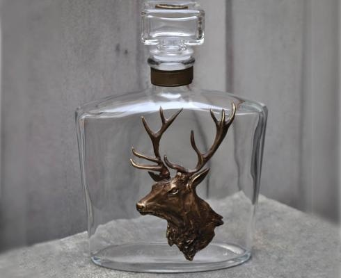 Hunting - DECANTER WITH DEER - hand made from Poland