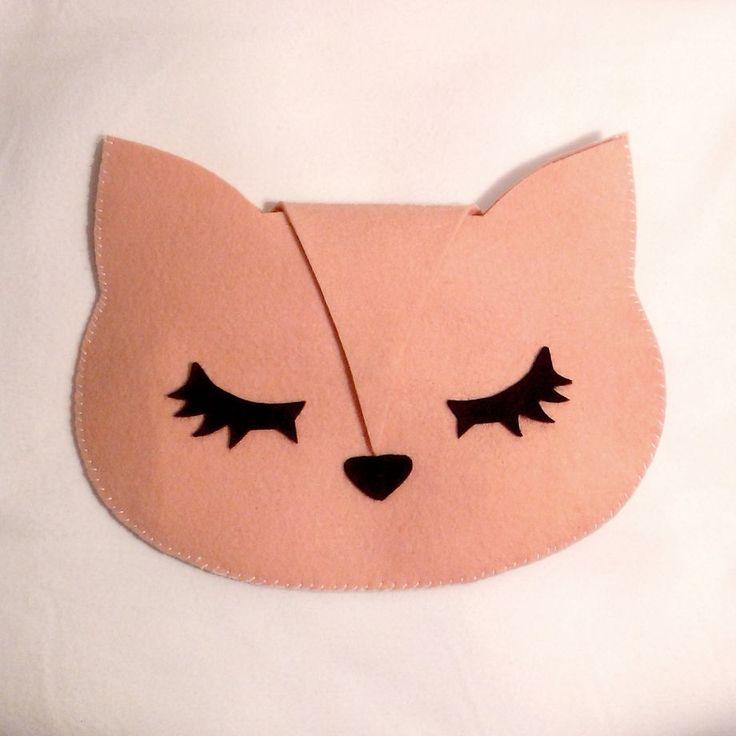 Le Chat keçe el yapımı portföy çanta / handmade by niid design - Çanta 179317 | zet.com