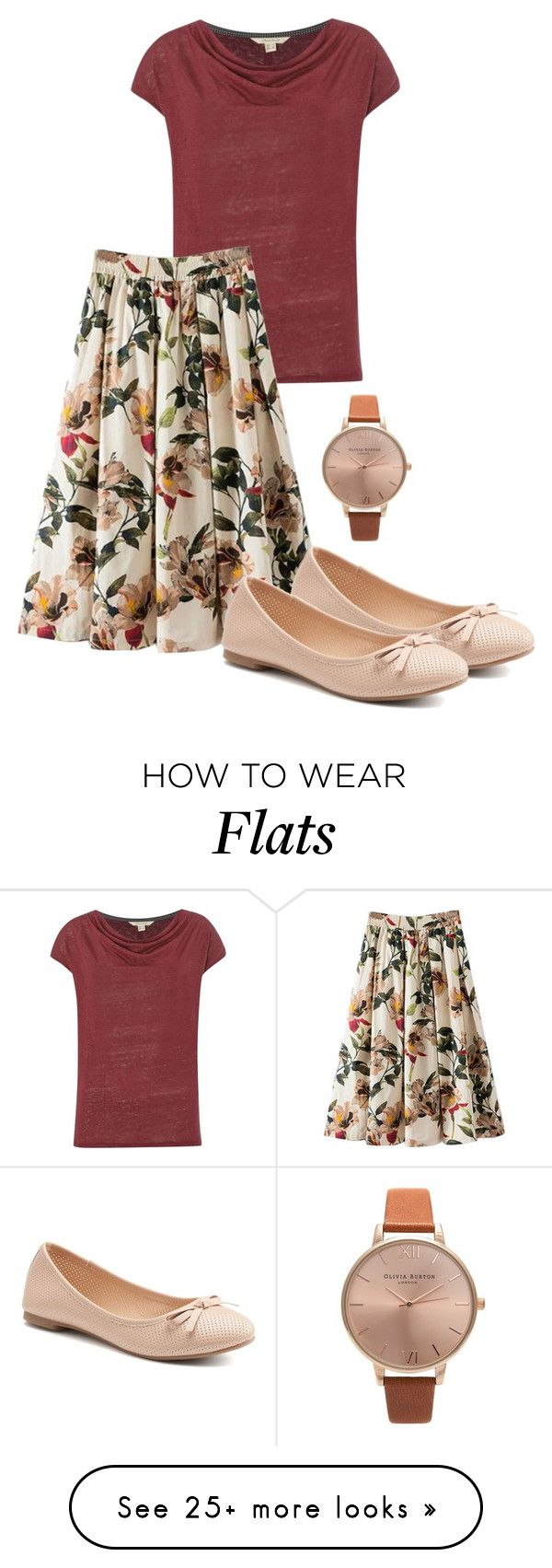 """Some red 🌹"" by loisanne on Polyvore featuring White Stuff, WithChic, SO and Olivia Burton"