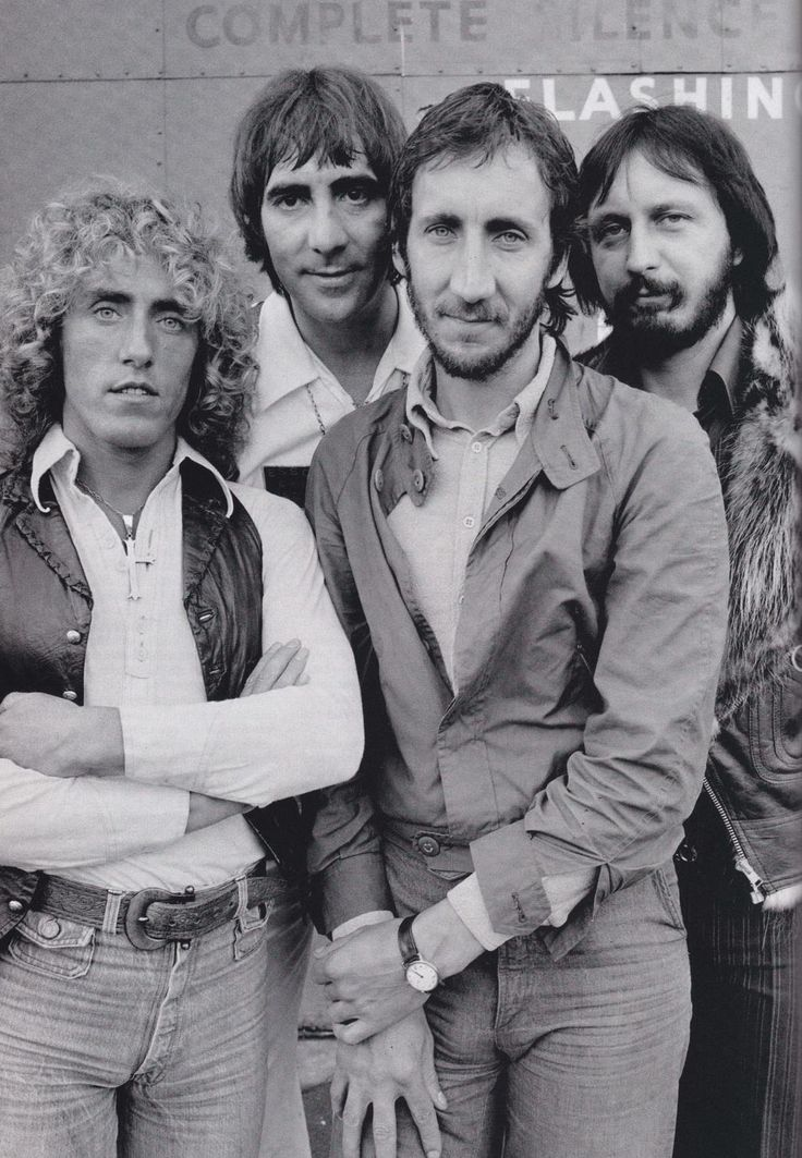 THE WHO.....Roger Daltrey, Peter Townsend, Keith Moon, John Entwistle