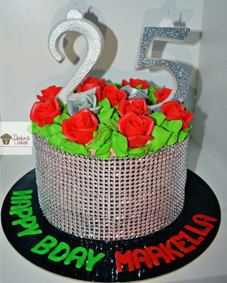 Glitz and Roses cake
