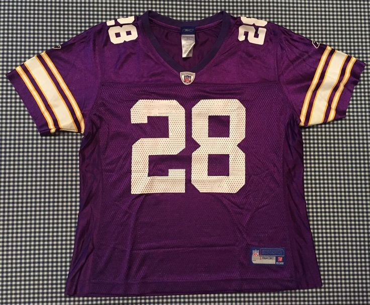 Adrian Peterson Minnesota Vikings Women's Replica Jersey Size Large Purple NFL #Reebok #MinnesotaVikings