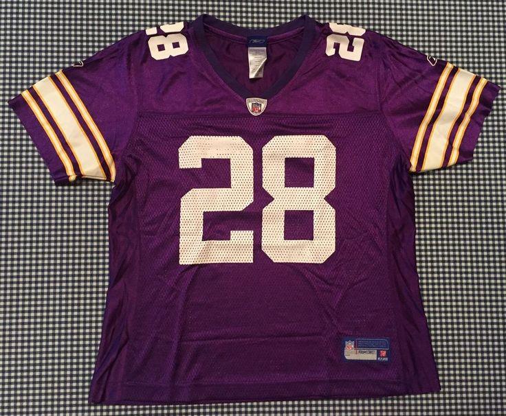 Adrian Peterson Minnesota Vikings Women's Replica Jersey Size Large Purple NFL #Reebok #MinnesotaVikings