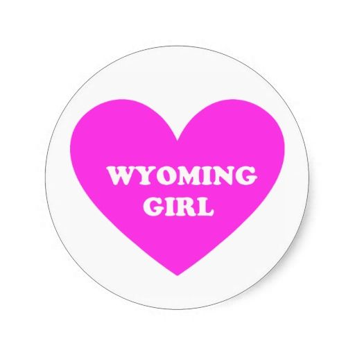 Wyoming Girl Round Stickers