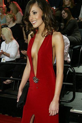 Rebecca Twigley at the AFL Brownlow 2004