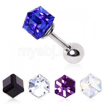 Cubed Prism Tragus/Cartilage Earring