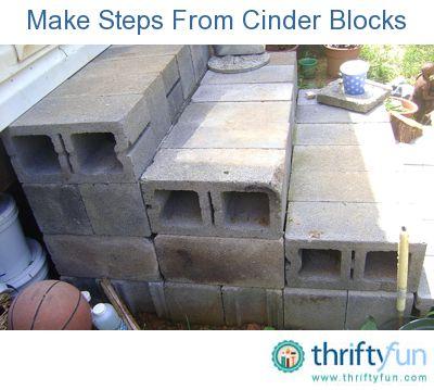 Making Steps With Cinder Blocks