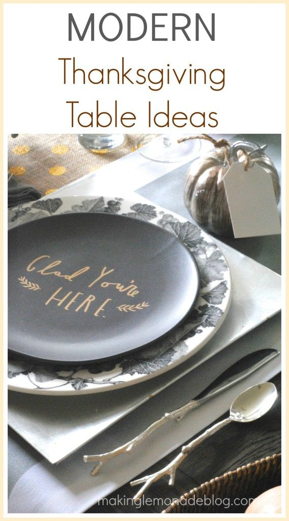 modern mixed metallic thanksgiving tablescape holiday