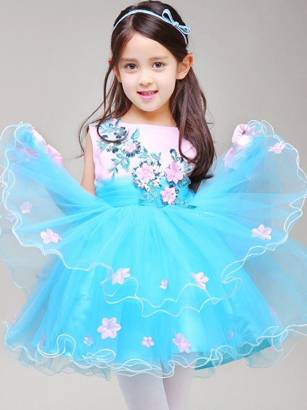 aeb12543a Handmade Flower Embroidery Sleeveless Bubble Dress  bubbledress   princessdress Vestidos De Fiesta Para Niñas