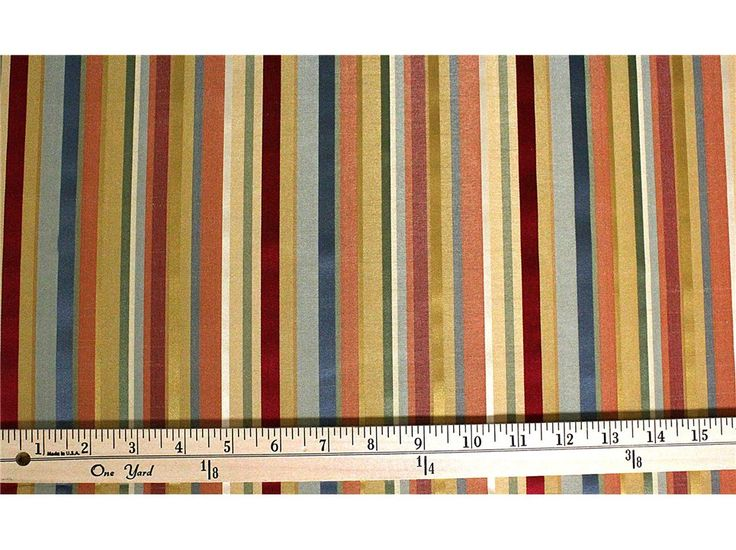 Rainbow Seyhan Stripe Fabric LOVE The Colors Maybe Dining Room Curtains