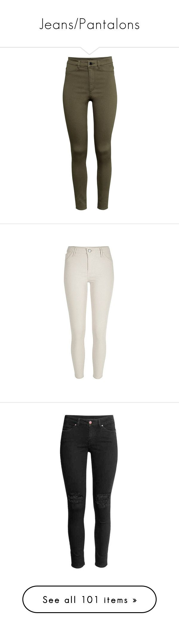 """Jeans/Pantalons"" by boiteasecrets ❤ liked on Polyvore featuring pants, jeans, bottoms, trousers, pantalones, khaki green, highwaisted pants, high rise pants, brown khaki pants and green khaki pants"