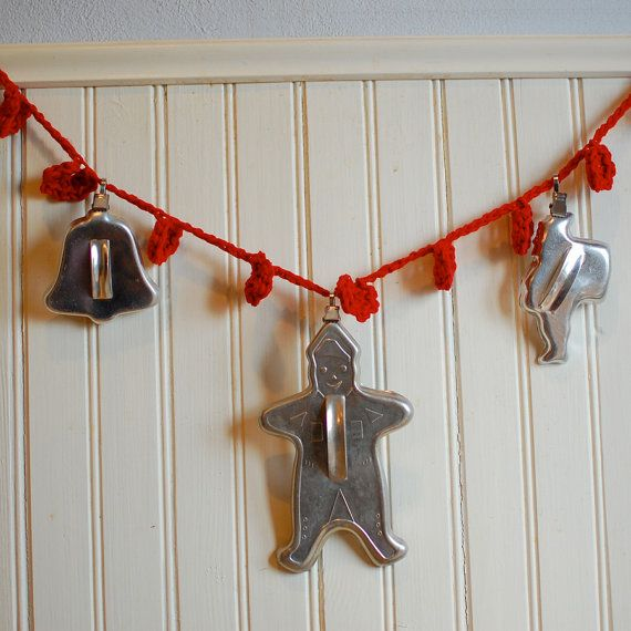 Vintage Christmas Cookie Cutters Metal. I have a collection of these.