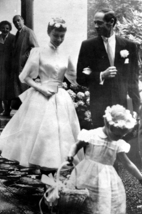 Audrey Hepburn's real wedding dress (not as well known as GK's, but adorable and true to Audrey's elegant simplicity style)
