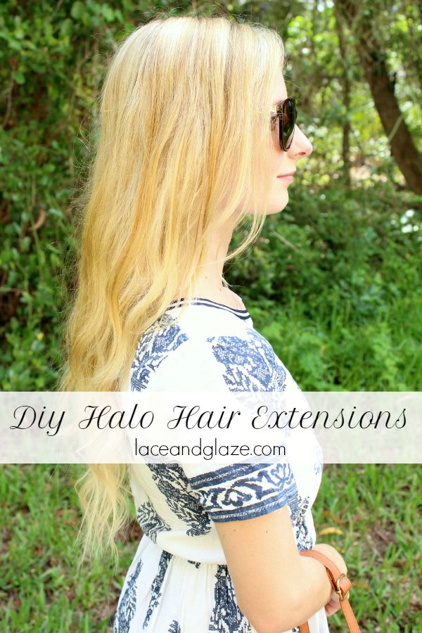 diy halo hair extensions