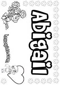 My Name Is Abigail Coloring Page