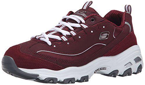 Skechers Sport Women's D'Lites Fashion Sneaker, Burgundy, 7.5 M US - http://all-shoes-online.com/skechers-3/7-5-b-m-us-skechers-sport-womens-dlites-memory-foam-16