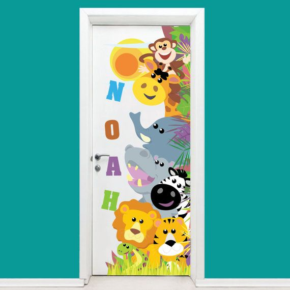 Personalized Kids Door Sticker Wall Decal  Room by HappyHouseNo1