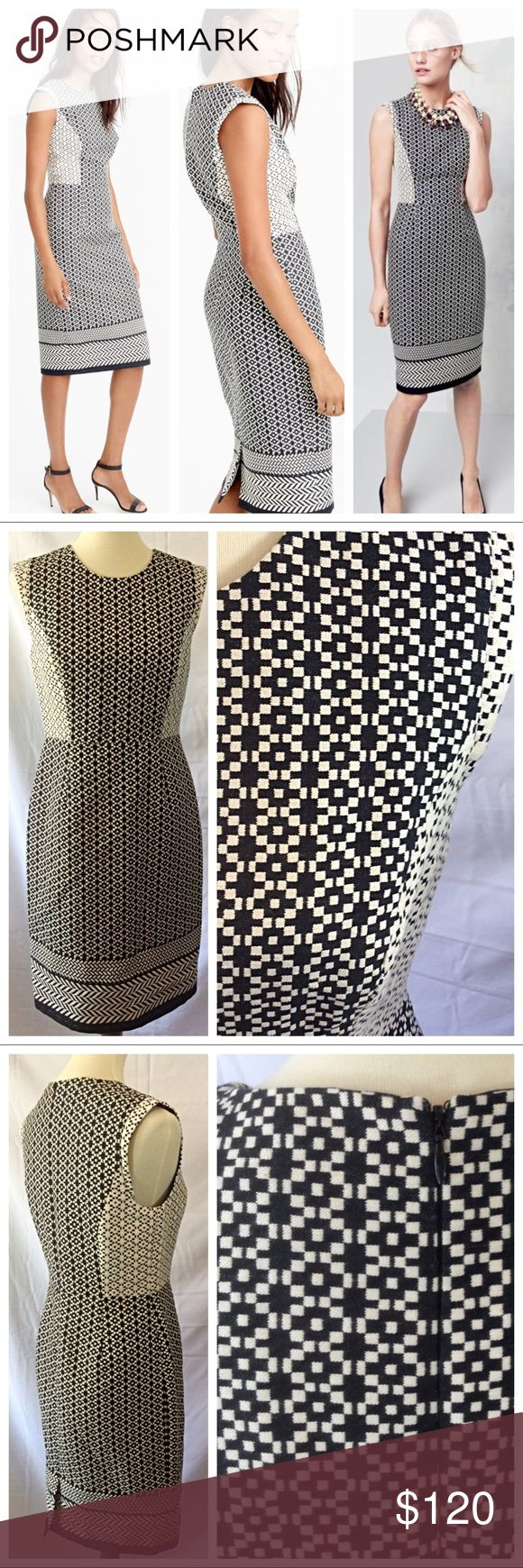 Cute J Crew Paneled Geometric Dress
