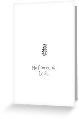 Celebrate the return of Halloween with a stolen body part! • Also buy this artwork on stationery and stickers.