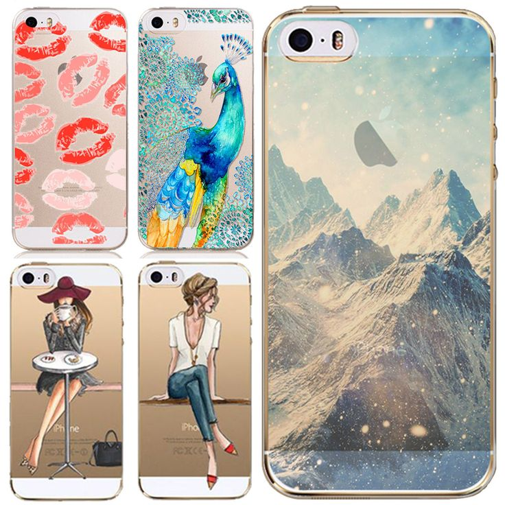 Phone Cases Cover for Apple iPhone 5 5S 5G Super Thin Soft TPU Clear Back Phone Skin for iPhone 5S Phone Accessory Wholesale