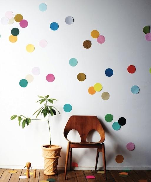 confetti wall diy