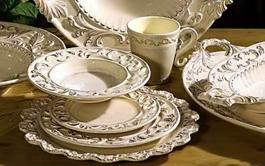 Tuscan Dinnerware | Tuscan Horchow Cream Dinnerware 16 PC Set | eBay