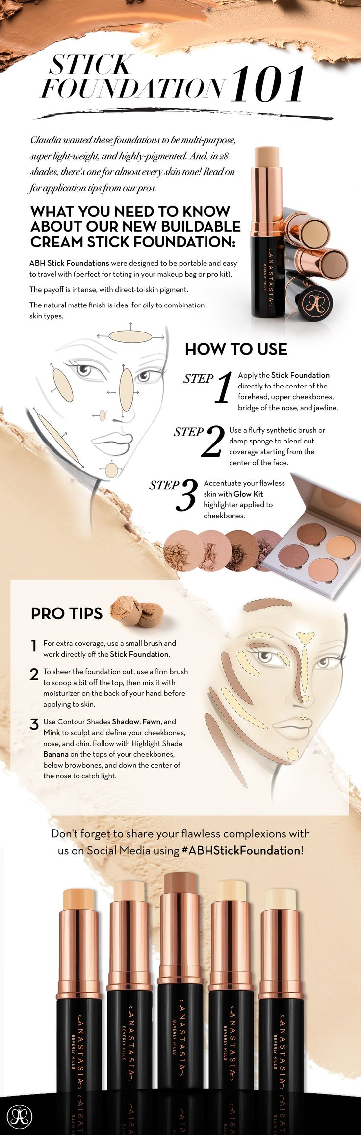 Beyond the Brow | Official Blog of Anastasia Beverly Hills - Stick Foundation…