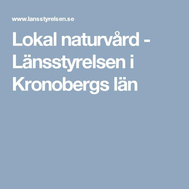 Lokalnaturvård - Länsstyrelsen i Kronobergs län